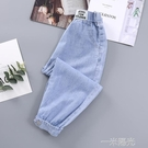 女童天絲牛仔褲2021新款兒童夏裝洋氣防蚊褲女孩夏款寬鬆薄款褲子 一米陽光