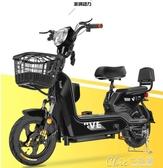 電車思帝諾新國標48V新款電動車電動自行車小型電瓶車男女兩輪代步 七色堇