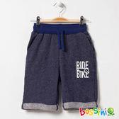 牛仔針織短褲海藍-bossini男童