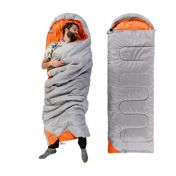 1.25kg保暖春夏旅行信封睡袋【SA015】戶外野營睡袋可拼接帽雙開拉鏈