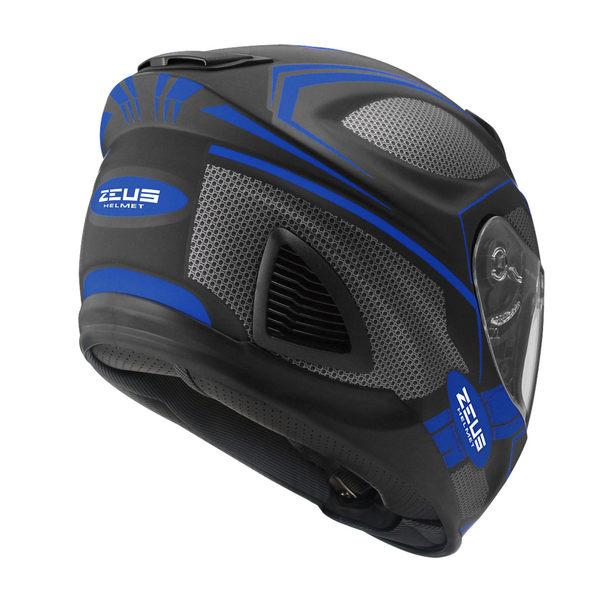 ZEUS 瑞獅安全帽,ZS-1600,AK3/消光黑藍