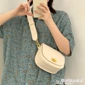 馬鞍包 韓國2020夏季新款女包復古鎖扣寬肩帶斜背小包簡約百搭側背馬鞍包 愛麗絲