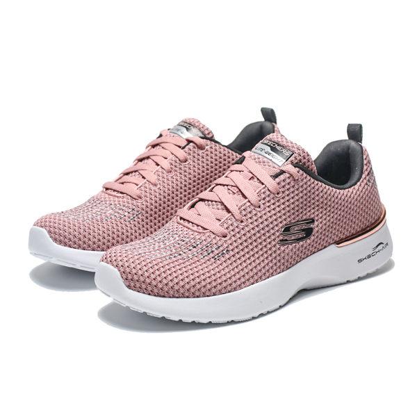 SKECHERS AIR DYANMIGHT 粉 粉紅 編織 金屬 慢跑 女(布魯克林) 12946ROS