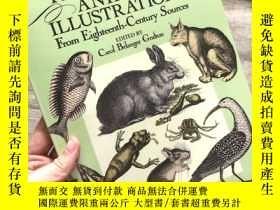 二手書博民逛書店Treasury罕見of Animal Illustrations: From Eighteenth-Centur