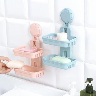 【免打孔雙層吸盤肥皂架LA416】NO135【八八八】e網購