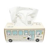 New 公車印花紙巾(50抽) 隨機不挑色 【小三美日】面紙/衛生紙