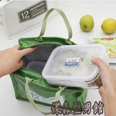 韓國清新午餐便當包漆皮PU野餐包鋁箔保溫袋保冷冰包女手提飯盒袋 WY傑森型男館