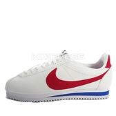 Nike W Cortez Leather [807471-103] 女鞋 運動 休閒 經典 潮流 阿甘 白 紅