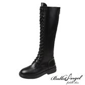 長靴 美式率性綁帶馬汀長筒靴(黑)*BalletAngel【18-2078bk】【現+預】