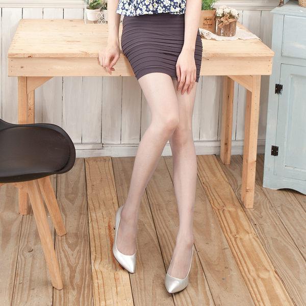 3D平紋超薄涼感T檔美腿襪 (太空灰 )