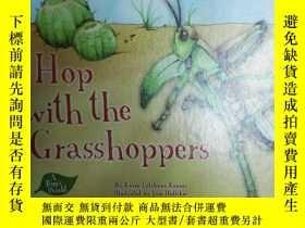 二手書博民逛書店英文兒童繪本:Hop罕見With the Grasshopper
