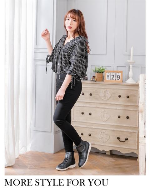 女鞋 真皮短靴 氣墊 經典時尚俐落黏貼厚底高階版球囊氣墊短靴-MIT手工鞋(百搭黑) Normlady 諾蕾蒂
