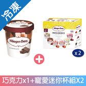 哈根達斯巧克力甜蜜寵愛迷你杯暢銷組【愛買冷凍】