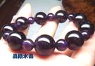 天然紫水晶手鍊 14mm 特級~早期商品~光亮度優~送禮物~附禮盒*免運費