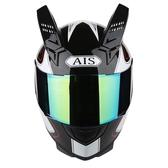 艾獅男女摩托車頭盔半全盔覆式個性酷四季夏季安全帽機車賽車犄角