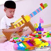 兒童塑料拼插子彈頭積木4-6歲女孩幼兒寶寶拼裝男孩玩具1-2-3周歲