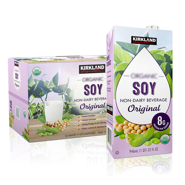 Kirkland 純素豆奶 (946ml*12罐/箱)原味*愛家純淨素食 Vegan營養植物奶 全素飲料 [獨立寄送商品、免運]
