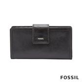 FOSSIL LOGAN 真皮系列拉鍊零錢袋設計中夾-黑色 SL7830001
