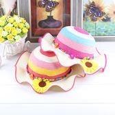 兒童草帽女童夏天小女孩沙灘帽公主涼帽防曬遮陽帽子大沿太陽帽子   良品鋪子