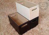 皮革挖孔CD收納盒CD盒CD架CD籃皮質整理用具雜物籃收納籃