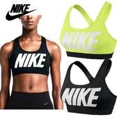 NIKE 耐吉 女BAR 運動內衣 716473 瑜伽服 緊身衣 健身衣 小可愛 中強度型 黑色 湖藍色 螢光綠/澤米