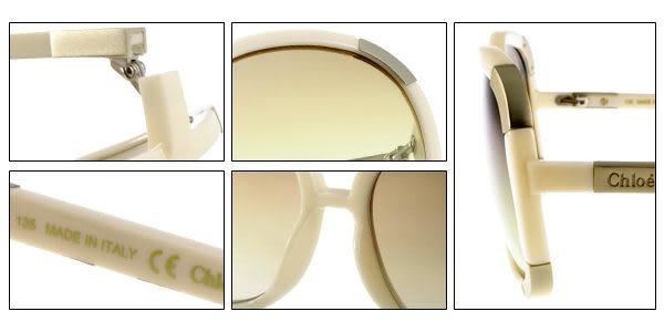 Chloe 太陽眼鏡 CL2119 103 (裸白) 經典大框 墨鏡 # 金橘眼鏡