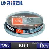 ◆下殺!!免運費◆錸德 Ritek 藍光 Blu-ray X版 BD-R 6X  25GB 10P布丁桶
