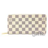 【Louis Vuitton 路易威登】N41660 經典ZIPPY 白棋盤格紋拉鍊長夾
