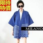 和服外套-寬鬆復古日式七分袖防曬和風女罩衫68af36[時尚巴黎]