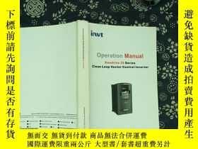 二手書博民逛書店Operation罕見Manual Goodrive 35 Se