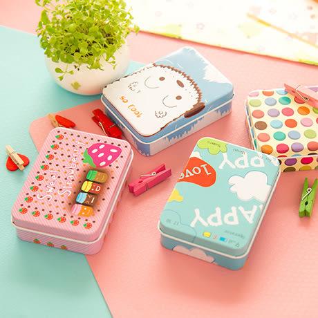 【03176】 卡通迷你收納鐵盒 首飾 項鏈 置物盒 文具盒 收納盒 化妝盒