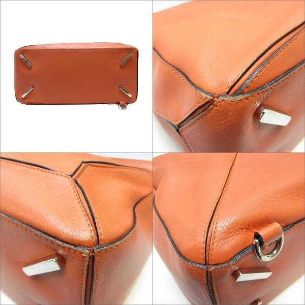 LOEWE 羅威 橘色牛皮Large Puzzle Bag 手提肩背兩用包 471505【二手名牌BRAND OFF】