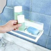 ♚MY COLOR♚瀝水無痕貼置物架 衛浴 免打孔 瀝水架 強力 ABS 壁掛式 毛巾 掛架【P434】