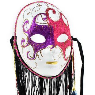 胡須彩繪面具 顏色隨機