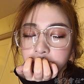 無度數 防輻射抗藍光透明眼鏡框女可配平光網紅款睛顯臉小 (新品)