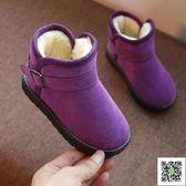 兒童棉鞋女童新款短靴冬季寶寶雪地靴加絨男童防水冬天鞋靴子 一件免運