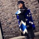 韓國熱賣 仿羊絨 雙面 菱格 菱形幾何 女圍巾 披肩(SSA0006)AngelNaNa