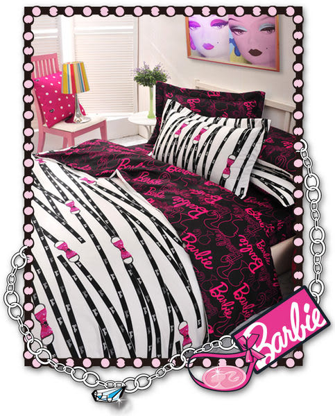 【Barbie‧芭比】《Ribbon》性感緞帶-緹花床包被套四件組(加大)