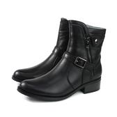 HUMAN PEACE 拉鍊 皮革 短靴 黑色 女鞋 9508-04 no074