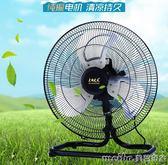 12寸搖頭趴地扇工業電風扇台式落地扇家用工廠大功率強力風扇爬地扇igo 美芭