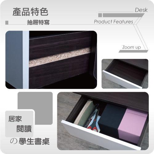 書桌 電腦桌【收納屋】 超值雙抽書架式書桌-二色可選-& DIY組合傢俱