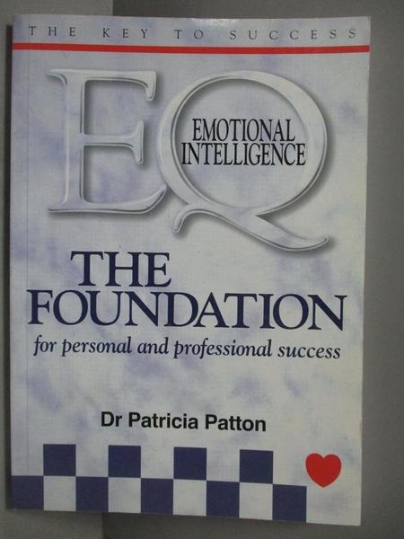 【書寶二手書T9/原文書_NEO】The Foundation_Dr Patricia patton