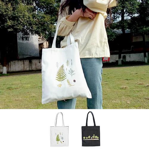 帆布袋 手提包 帆布包 手提袋 環保購物袋--單肩/拉鏈【DE144754】 icoca  08/24