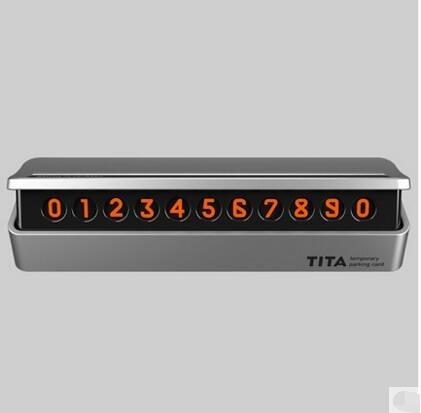 TITA汽車臨時停車牌移車卡隱藏式挪車電話號碼牌創意車內汽車用品  w
