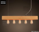 INPHIC- 北歐簡約五頭木吊燈日式鄉村田園客廳餐廳臥室多頭創意燈飾_S197C
