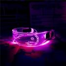 LED七彩發光眼鏡ins網紅連身賽博朋克墨鏡科幻酒吧蹦迪閃光太陽鏡 夢幻小鎮