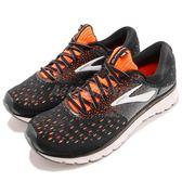 BROOKS 慢跑鞋 Glycerin 16 甘油系列 十六代 黑 橘 超級DNA動態避震科技 運動鞋 男鞋【PUMP306】 1102892E069