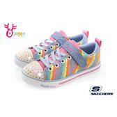 Skechers童鞋 女童電燈鞋 Skechers帆布鞋 休閒鞋 運動鞋 燈可關 粉 S8268#配色◆OSOME奧森鞋業