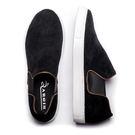 日本麂皮防滑休閒懶人鞋#18150黑 -ARGIS日本製手工皮鞋