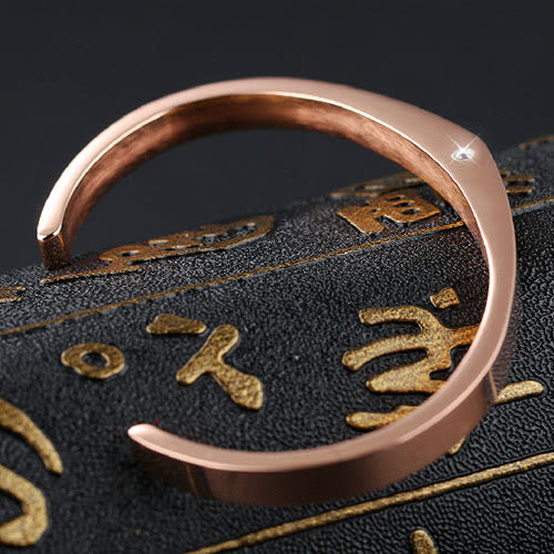 《 QBOX 》FASHION 飾品【B100N843】精緻個性簡約開口鑲鑽316L鈦鋼對鍊/手環(男/女單款)